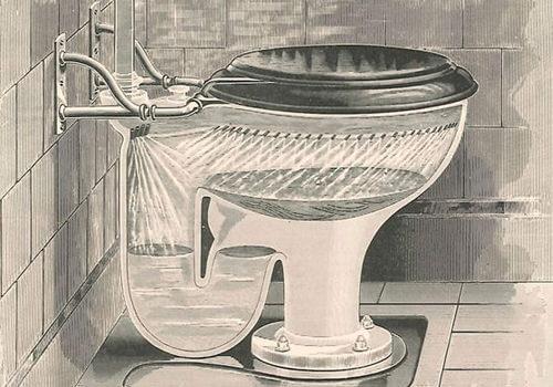 Pre-20th century Toilet sketch , credit Smithsonian